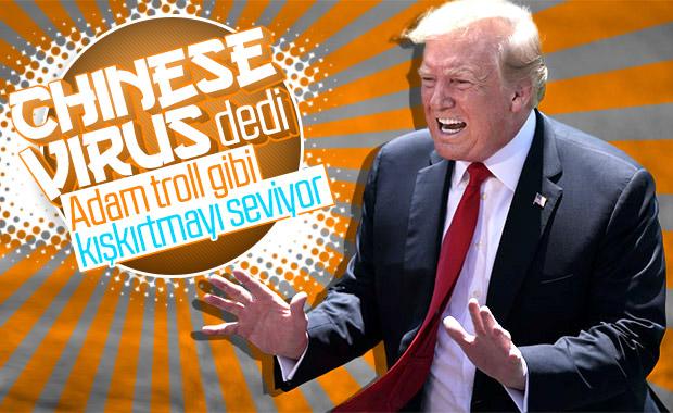 Trump, koronayı 'Çin virüsü' olarak adlandırdı
