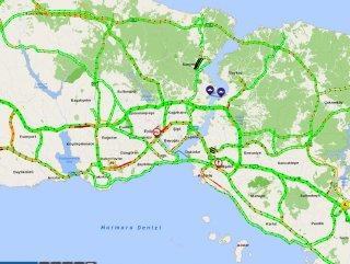 İstanbul trafiğinde koronavirüs etkisi