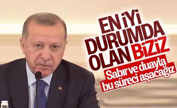 Erdoğan Türkiye'deki korona vakalarını değerlendirdi