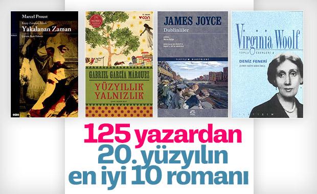 125 yazardan 20. yüzyılın en iyi 10 romanı