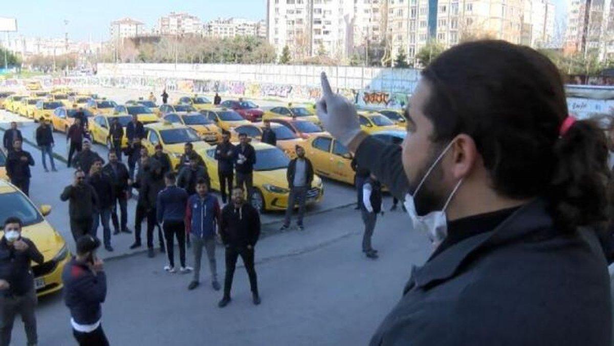 Taksicilerden 'işler azaldı' eylemi
