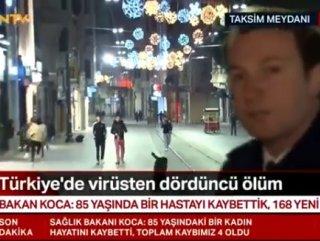 Taksim Meydanı'ndaki gençleri canlı yayında köpek kovaladı