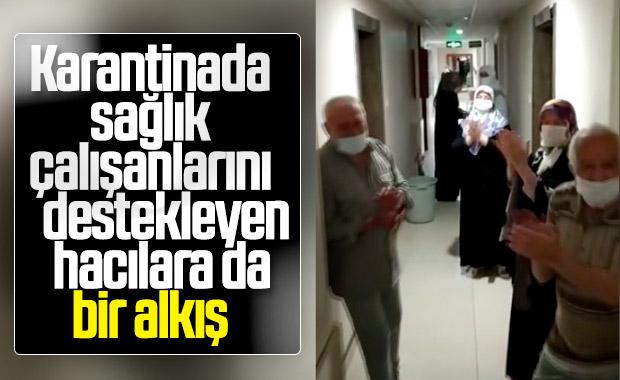 Kayseri'de karantinadaki umrecilerden teşekkür mesajı