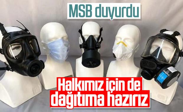 MSB: Gerektiğinde maske ihtiyacına desteğimiz hazır