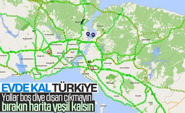 İstanbul'da haftanın ilk iş gününde yollar boştu
