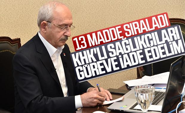 Kılıçdaroğlu'dan koronavirüse karşı önlem paketi