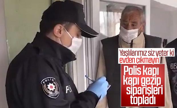 Polis yaşlıların siparişini aldı