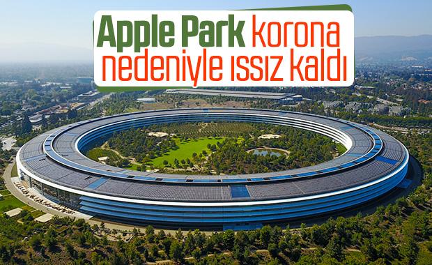 Apple Park, koronavirüs nedeniyle sessizliğe büründü