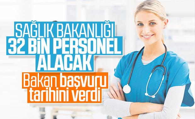 Sağlık Bakanlığı'na 32 bin personel alımının detayları