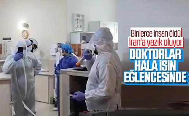 İran'da doktorlar hastanede göbek attı