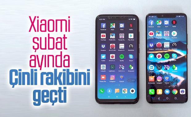 Xiaomi, şubat ayında Huawei'yi geçmeyi başardı