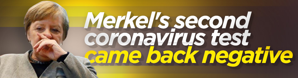 Merkel's second coronavirus test also negative