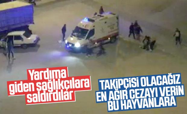 Konya'da kaza yerine giden sağlık görevlileri darbedildi