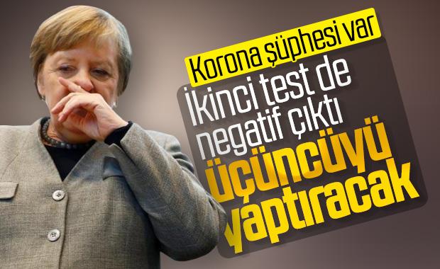 Merkel'den ikinci korona testi