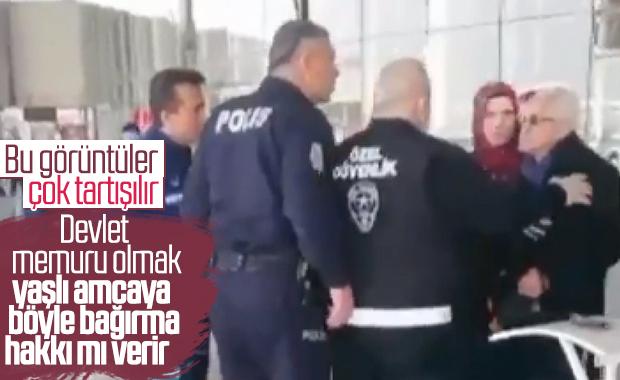 Polisten 65 yaş üstü kişiye sert tepki
