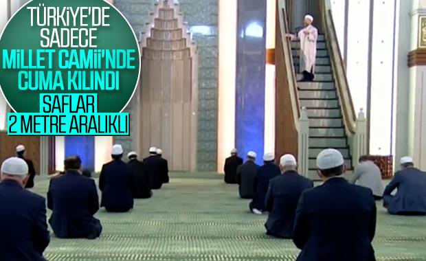 Beştepe Millet Camii'nde cuma namazı kılındı