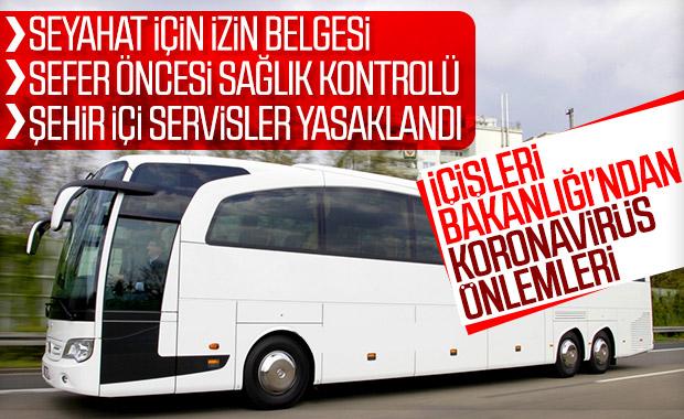 Şehirler arası otobüs seferlerine koronavirüs kısıtlaması