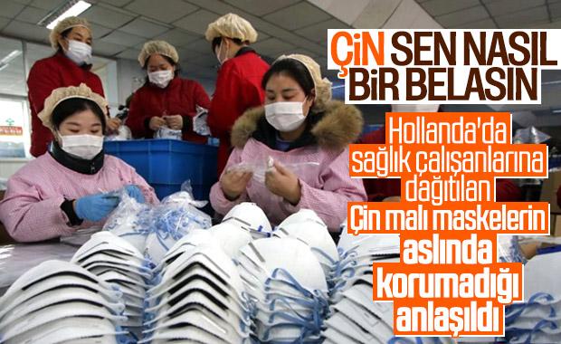 Hollanda, Çin'den aldığı 600 bin maskeyi toplatıyor