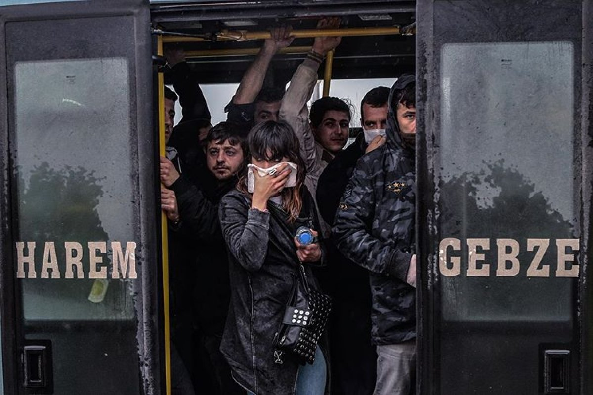 İstanbul'da toplu ulaşım araçlarında korona denetimi