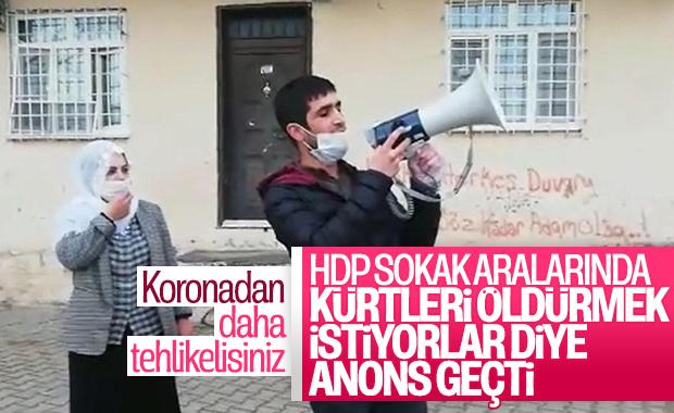 HDP'den koronavirüs propagandası