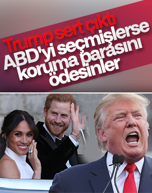 Trump, Prens Harry ve Meghan Markle'yi gözüne kestirdi