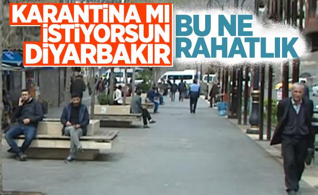 Evde Kal çağrısı Diyarbakır'da karşılık bulmadı