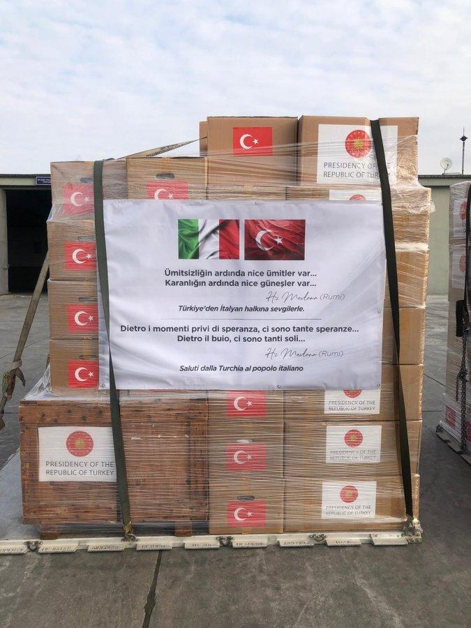 Türkiye'den İspanya ve İtalya'ya korona yardımı