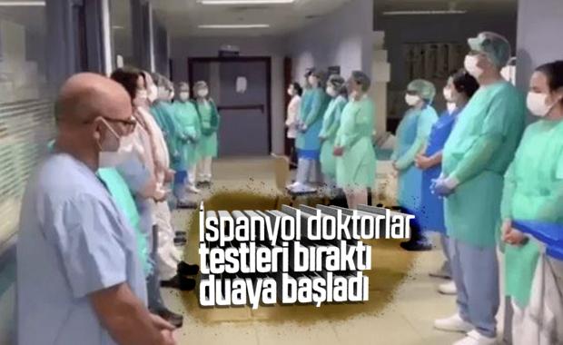 İspanya'da hastanede toplu dua