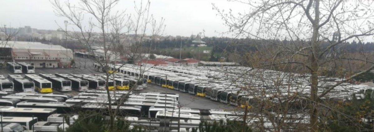 İBB'nin toplu taşıma araçları boşta bekliyor