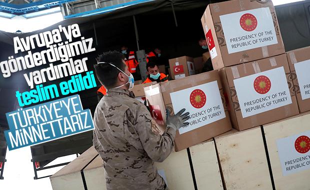 Türkiye'nin korona yardımına teşekkür mesajları