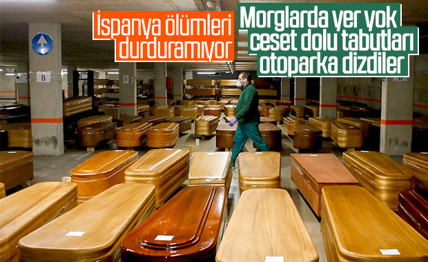 İspanya'da son 24 saatte 932 kişi daha öldü