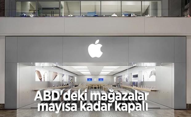 Apple, ABD'deki mağazalarını mayıs ayına kadar kapalı tutacak