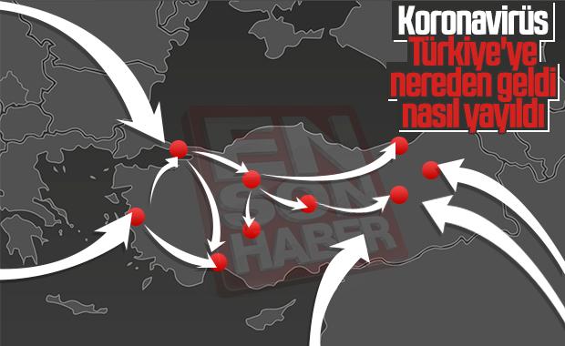 Koronavirüsün Türkiye'de nasıl yayıldığı belirlendi