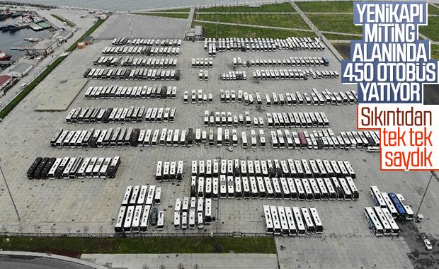 Şehirler arası otobüsler Yenikapı'ya park edildi