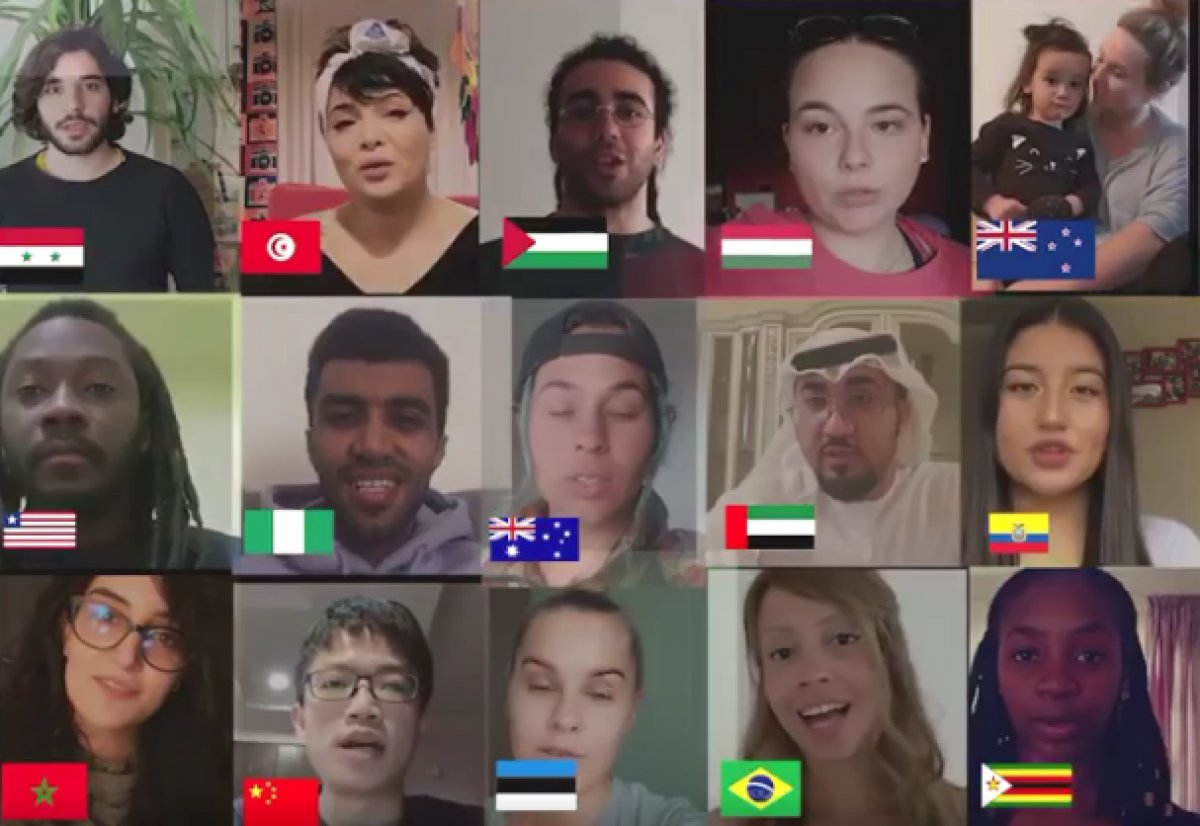 Farkı ülkelerde yaşayan gençlerden koronavirüs mesajı