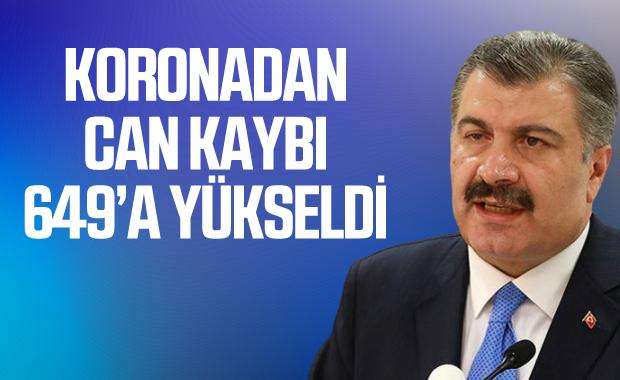 Türkiye'de koronadan ölenlerin sayısı 649'a çıktı