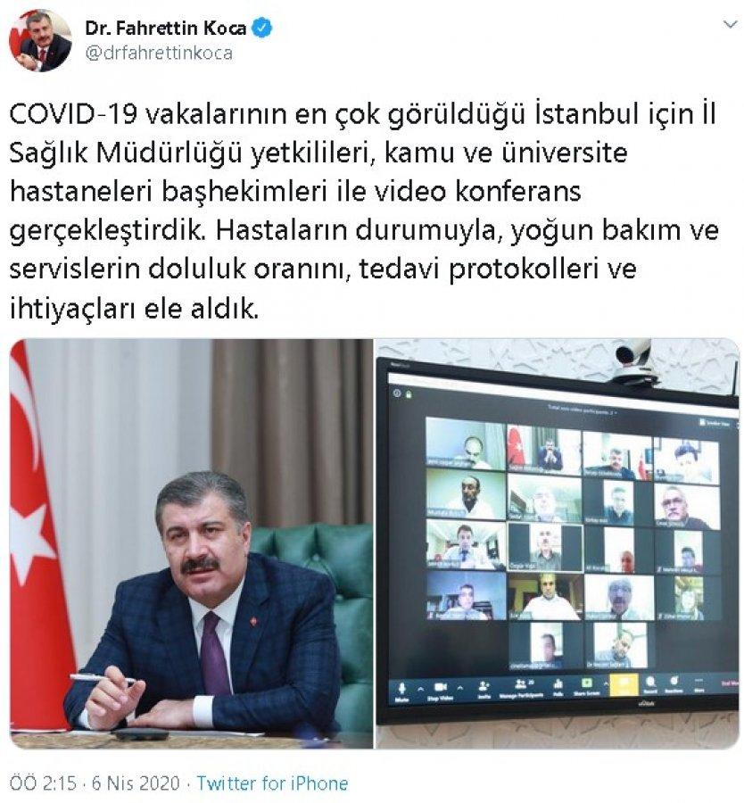 Sağlık Bakanı Koca, İstanbul için hekimlerle buluştu