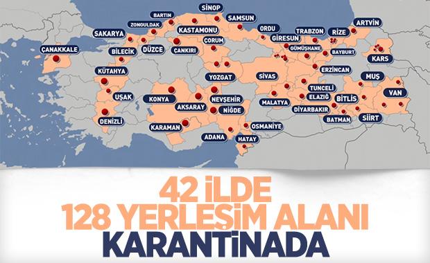 Türkiye'de karantinaya alınan yerlerin sayısı artıyor