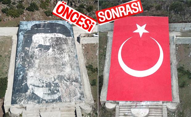 Afrin Bülbül'e Türk bayrağı işlendi