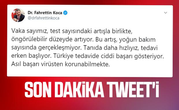 Türkiye'de koronavirüsten can kaybı 1101'e çıktı