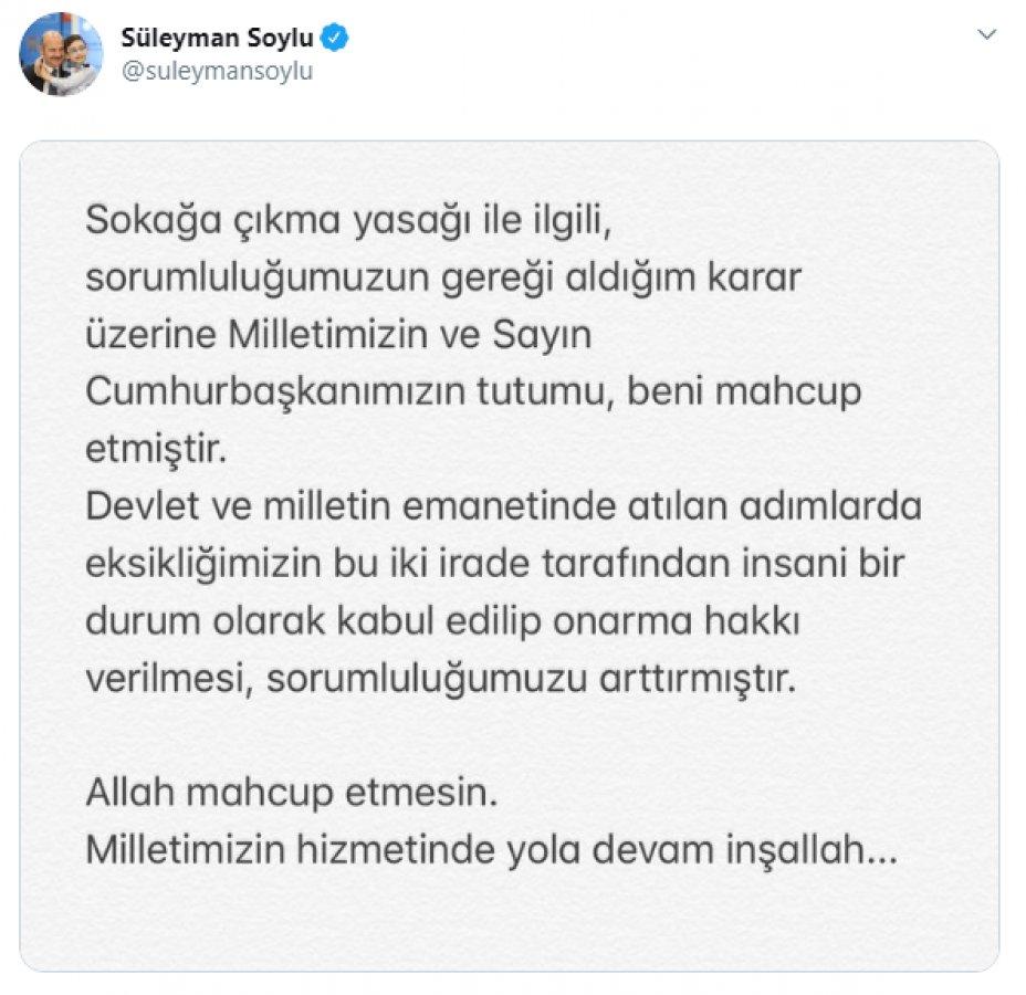 Süleyman Soylu'dan ilk açıklama geldi