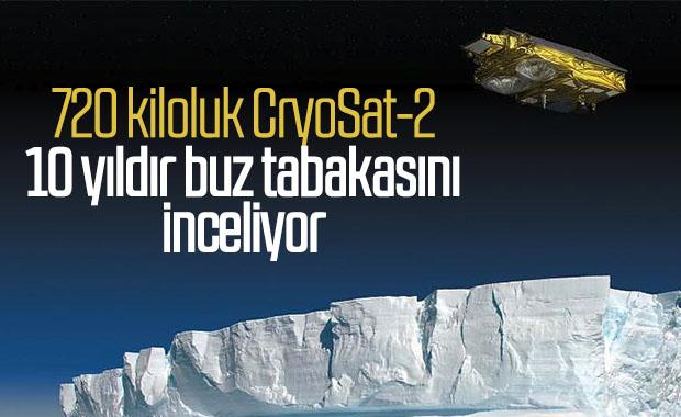 Dünya'nın buz örtüsünü inceleyen 720 kiloluk uydu: CryoSat-2