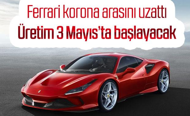 Ferrari, üretime verdiği arayı yeniden uzattı