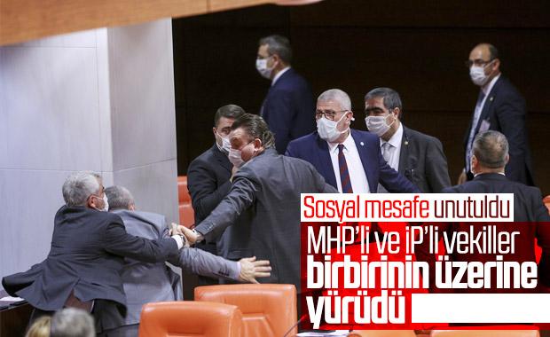TBMM'de MHP'li ve İyi Parti'li vekiller arasında kavga