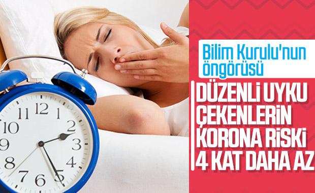 Koronavirüsten korunmak için düzenli uyku da şart