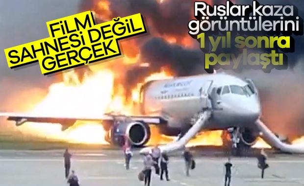 Rusya'da yaşanan uçak kazasının yeni görüntüleri