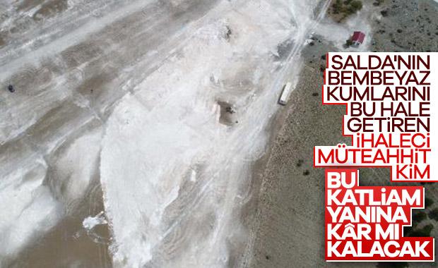 Salda Gölü'ndeki tahribattan geriye kalanlar