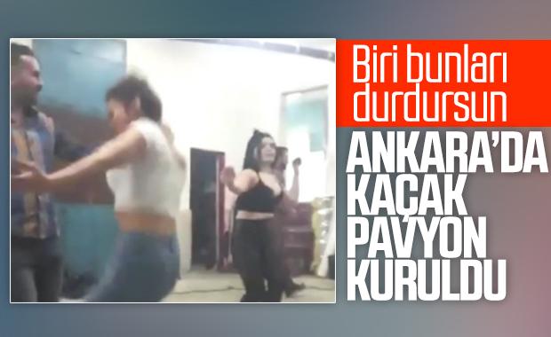 Ankara'da kaçak pavyon eğlencesi