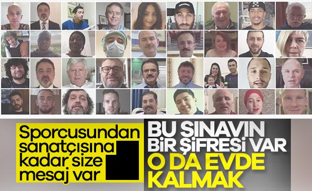 Türkiye'ye videolu evde kal çağrısı