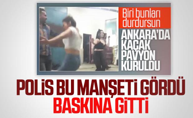 Ankara'da depoyu pavyona çevirenlere ceza yağdı